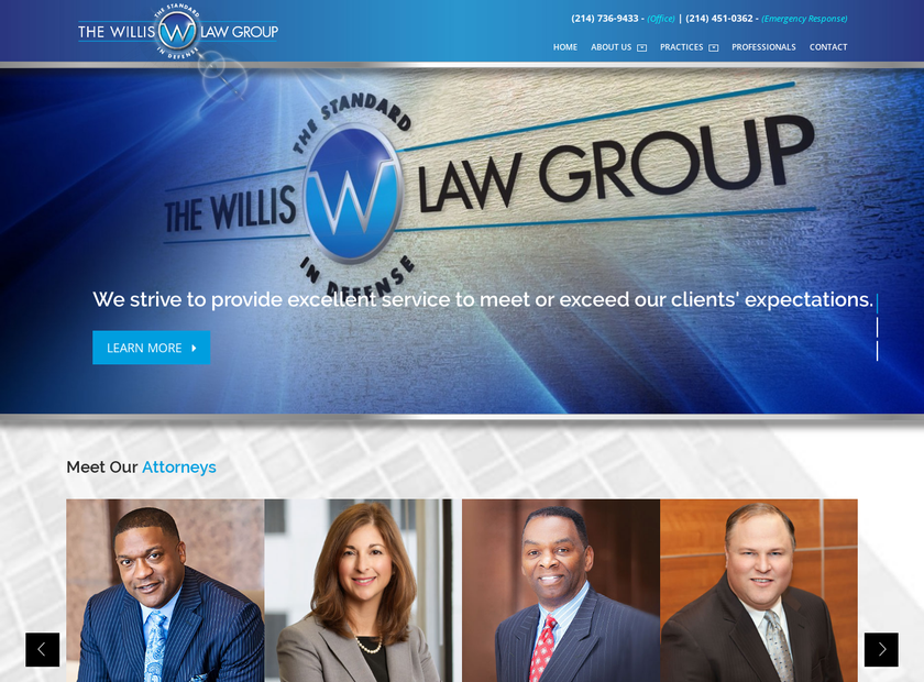 The Willis Law Group P.L.L.C homepage screenshot