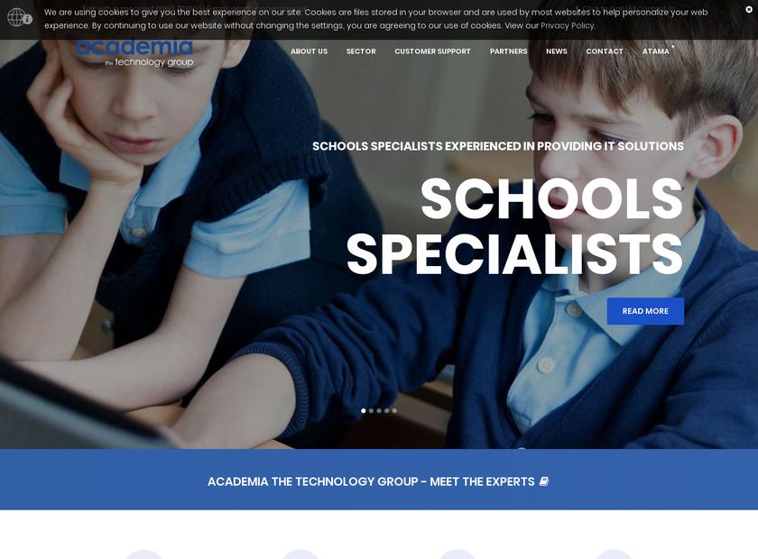 Academia Ltd homepage screenshot