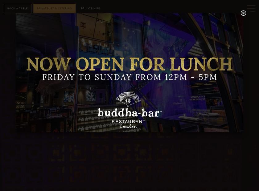 Buddha Bar London homepage screenshot