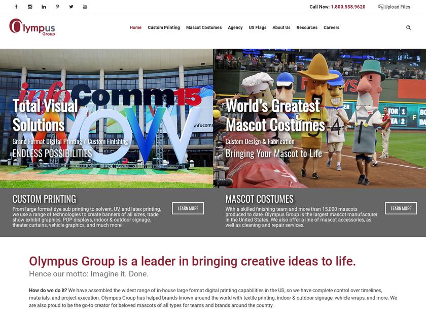 Olympus Group homepage screenshot