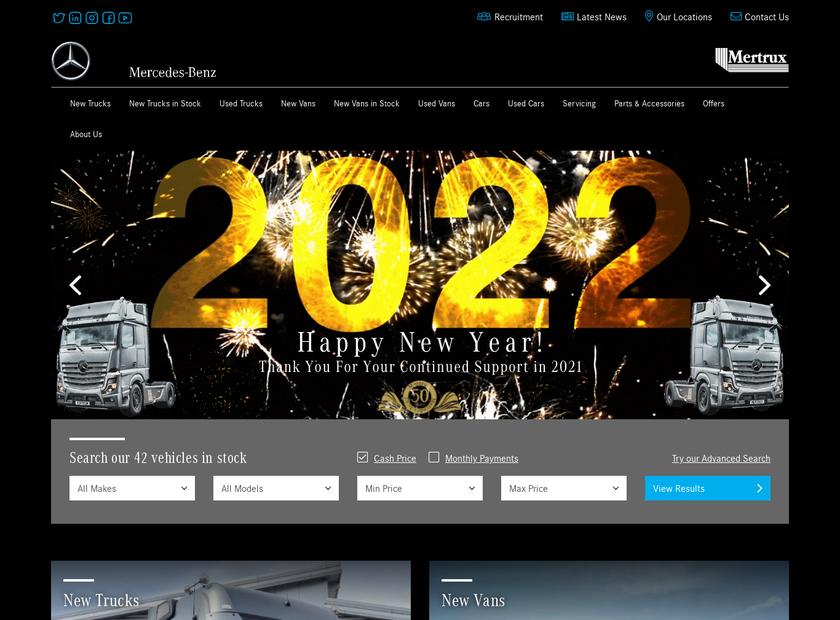 The Mertrux Ltd homepage screenshot