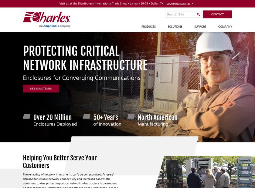 Charles Industries , Ltd. homepage screenshot