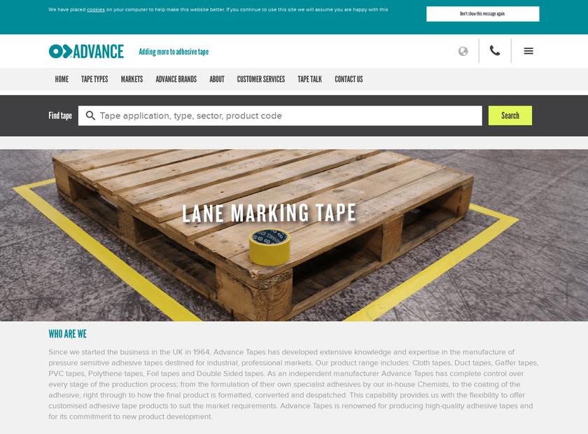Advance Tapes International Ltd homepage screenshot