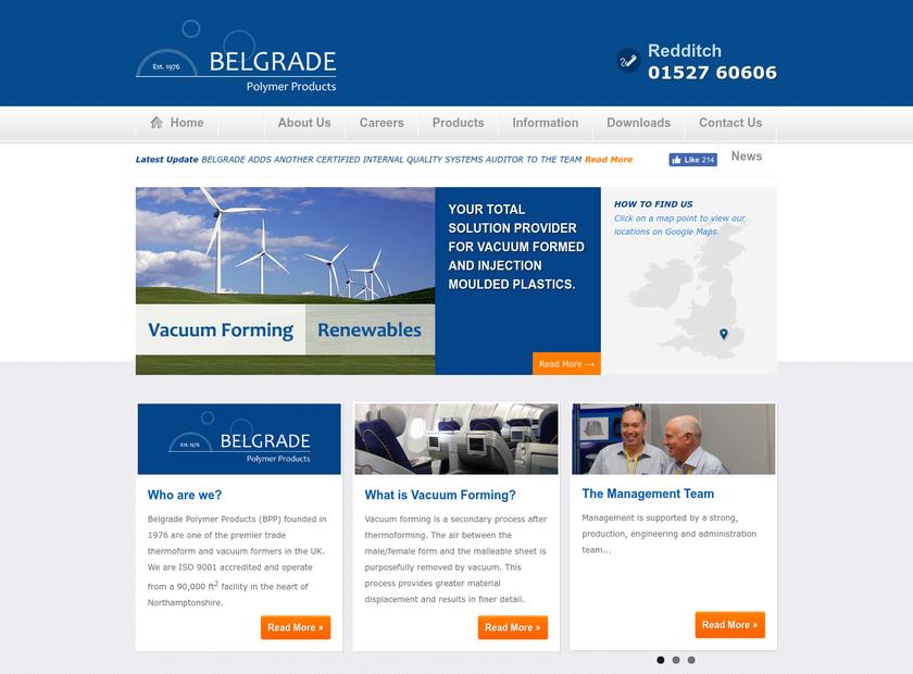 Belgrade Polymer Products Company homepage screenshot