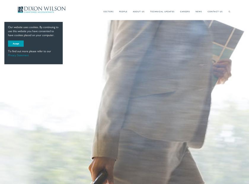 Dixon Wilson SARL homepage screenshot