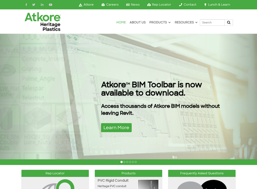 Heritage Plastics Incorporated homepage screenshot