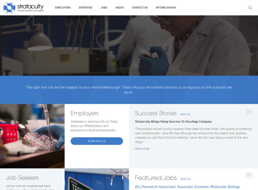 StratAcuity homepage screenshot