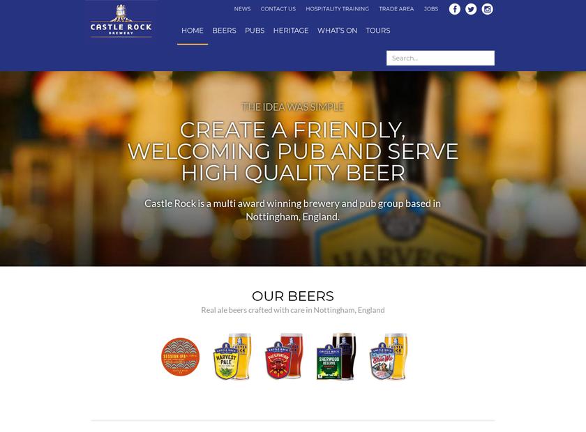 Castle Rock Brewery homepage screenshot