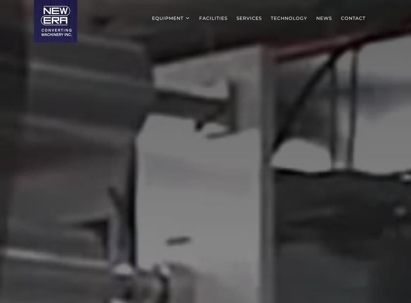 New Era Converting Machinery Inc homepage screenshot