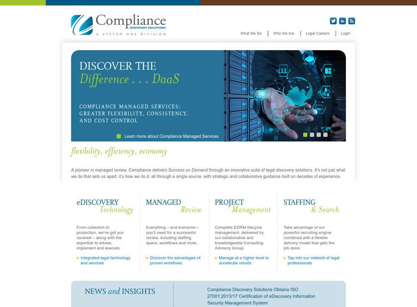 Compliance LP homepage screenshot