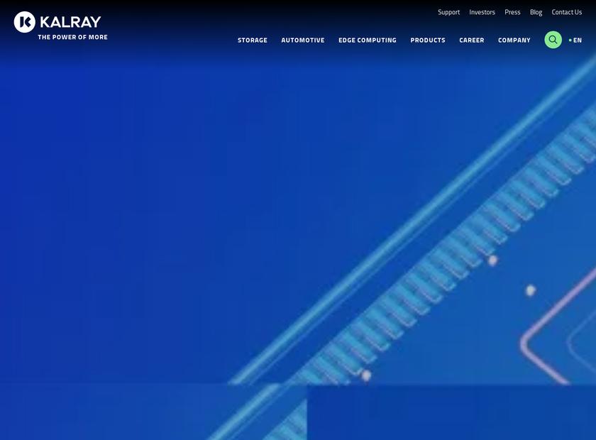 KALRAY Corporation homepage screenshot