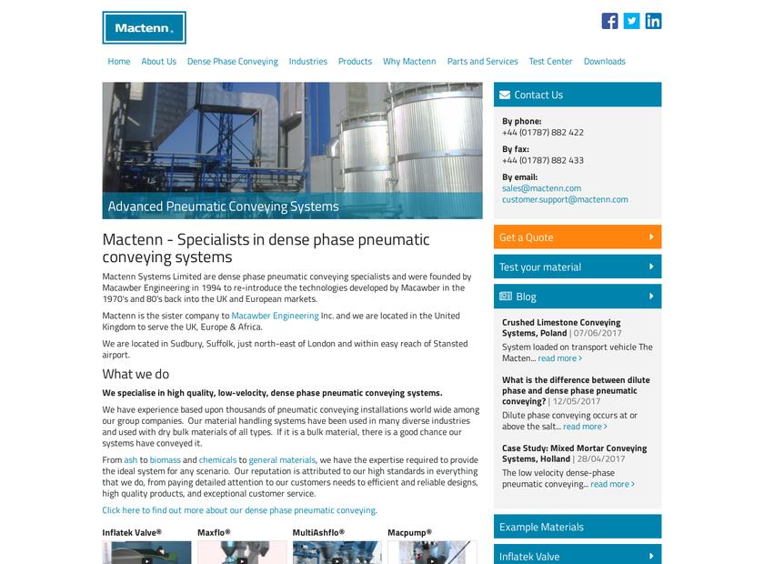 Mactenn Systems Ltd homepage screenshot