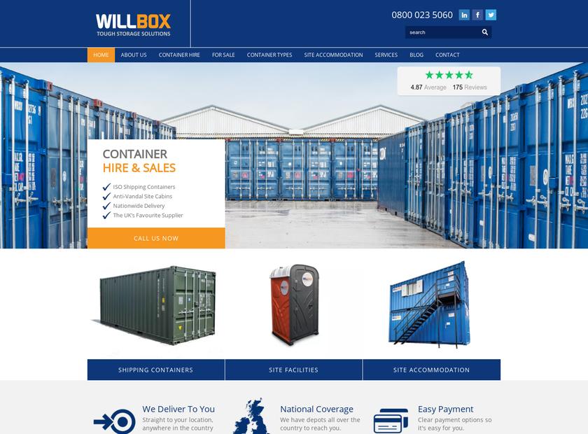 Willbox Ltd homepage screenshot