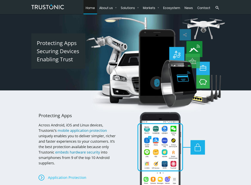 Trustonic Limited homepage screenshot