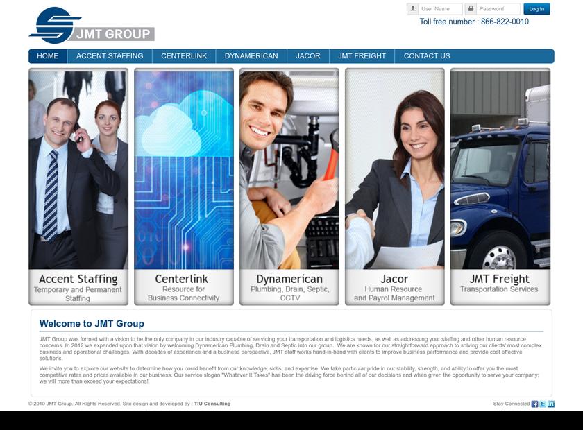 JMT Group homepage screenshot