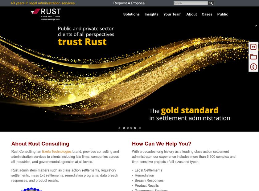 Rust Consulting Inc homepage screenshot
