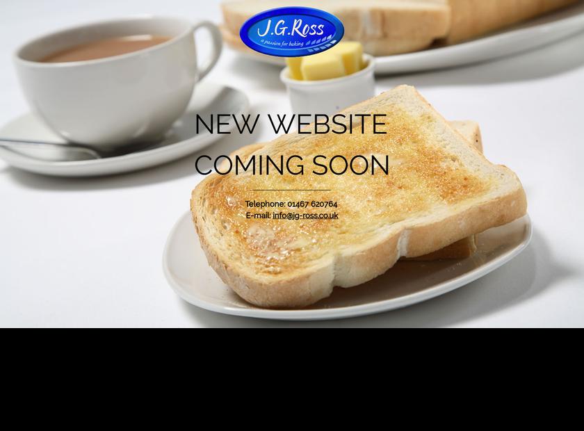 J G Ross (Bakers) Limited homepage screenshot