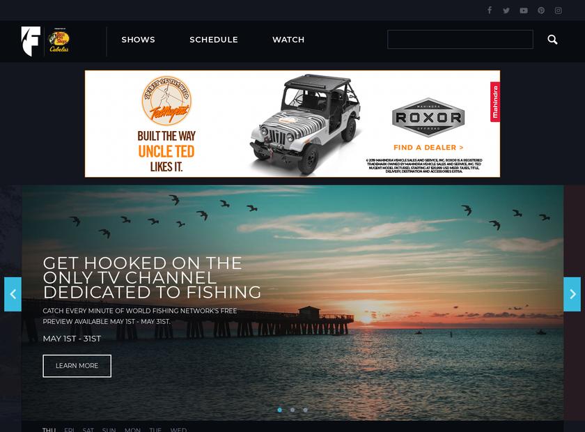 World Fishing Network LLC homepage screenshot