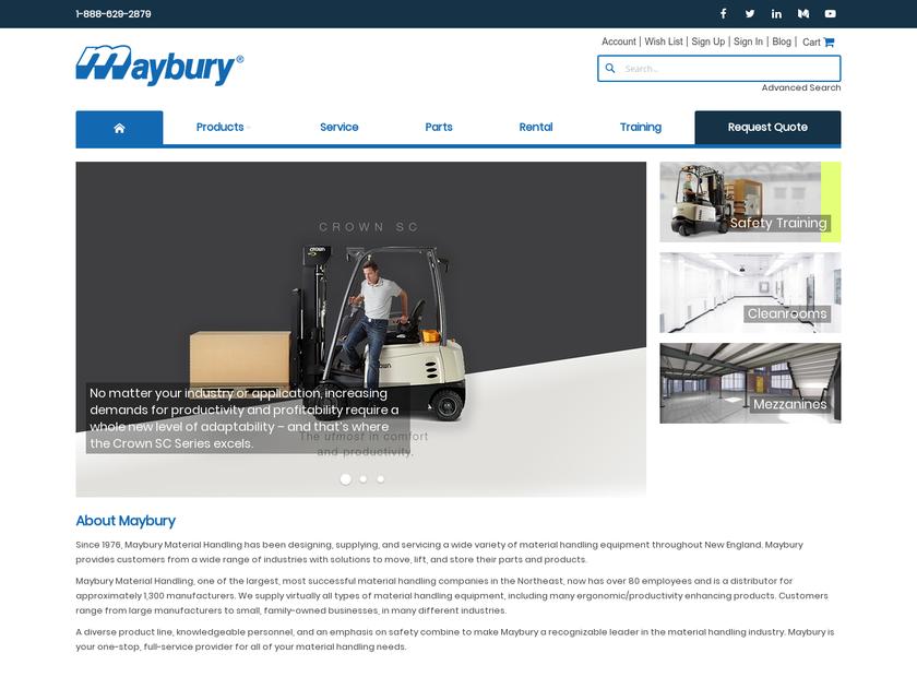 Maybury Associates Inc homepage screenshot
