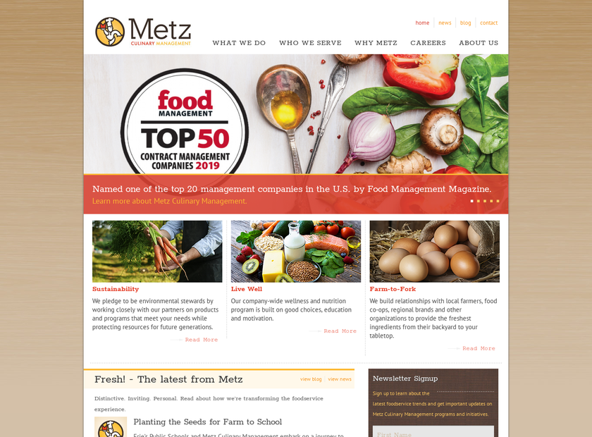 Metz & Associates Ltd homepage screenshot