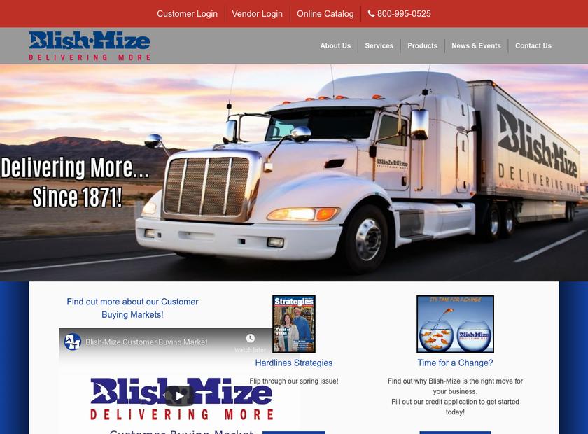 Blish Mize Company homepage screenshot