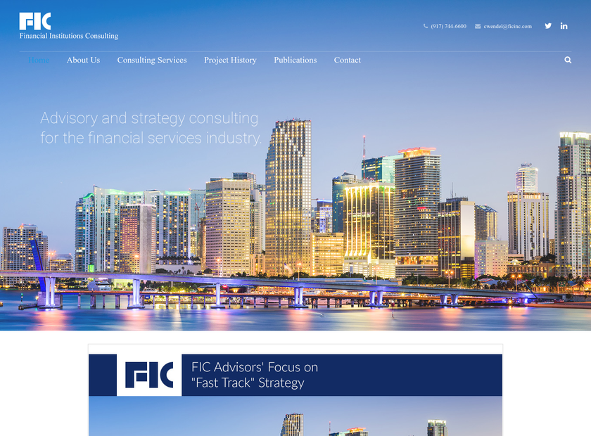 Financial Institutions Consulting Inc homepage screenshot