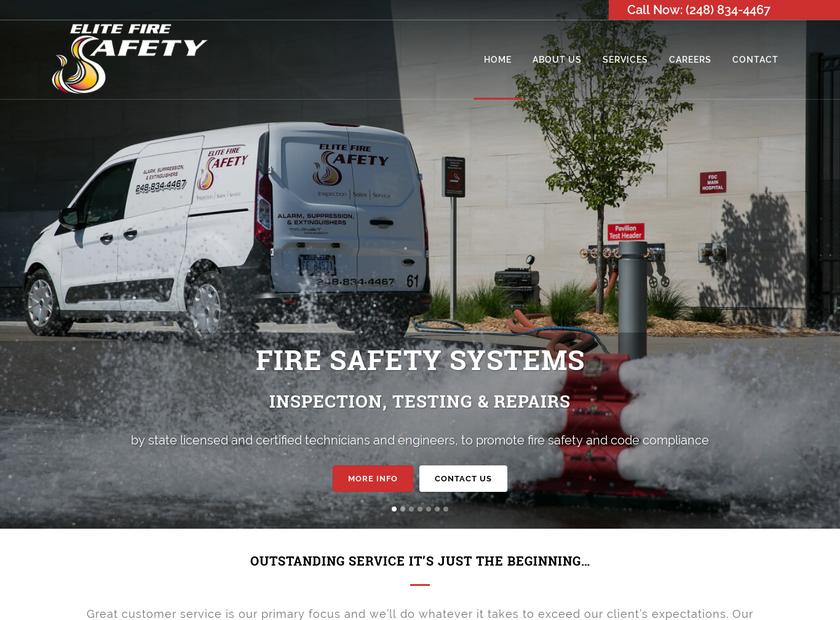 Elite Fire Safety Inc homepage screenshot