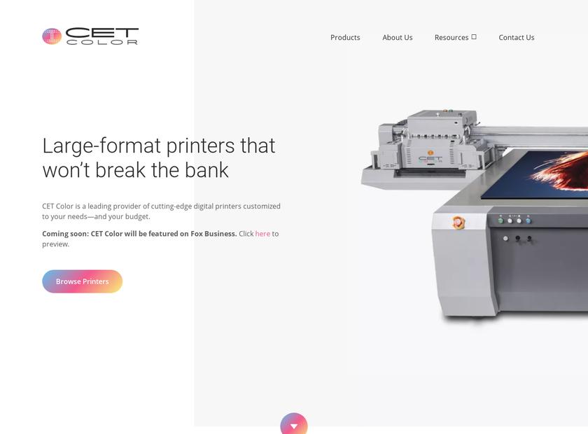 CET Color Inc homepage screenshot