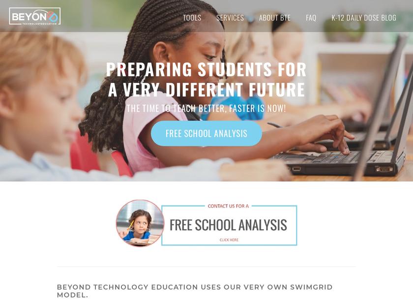 BEYOND Technology Education Inc homepage screenshot