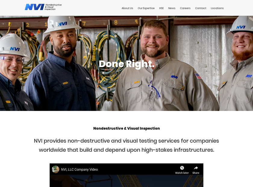 NVI LLC homepage screenshot