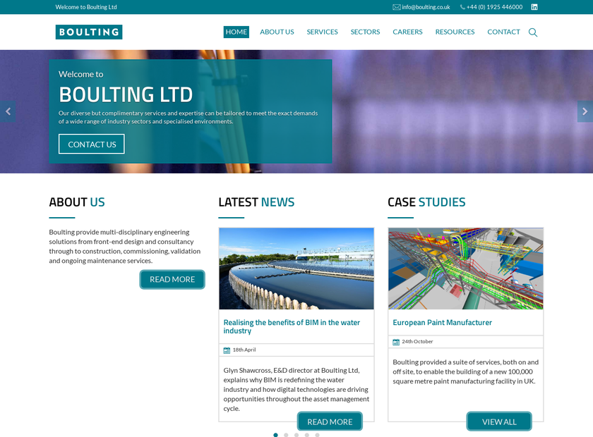 Boulting Group Ltd homepage screenshot