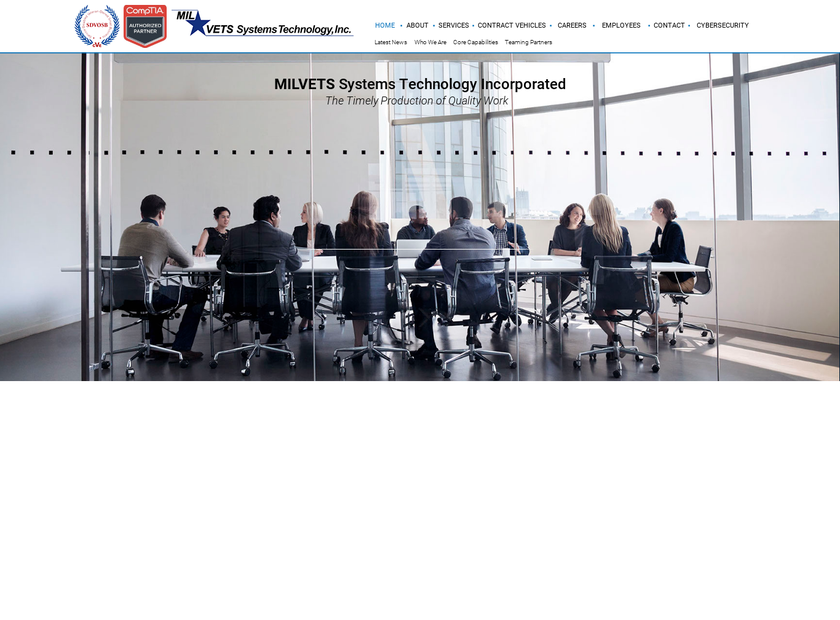 MILVETS Systems Technology , Inc. homepage screenshot