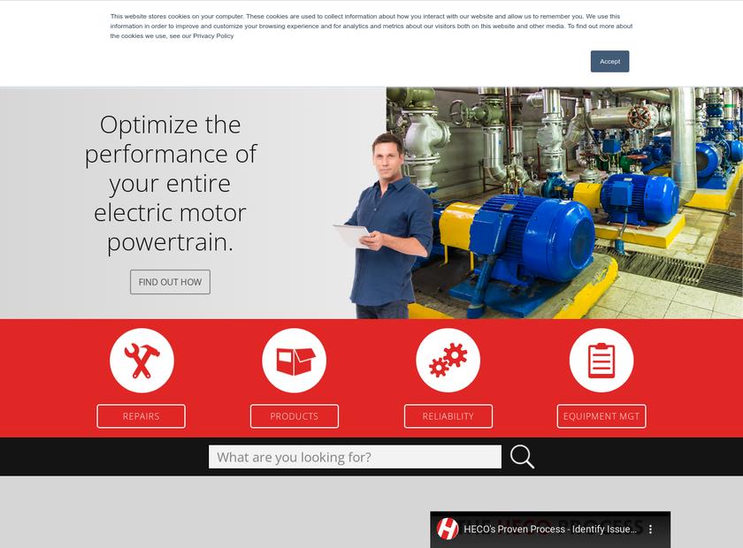 HECO Inc homepage screenshot