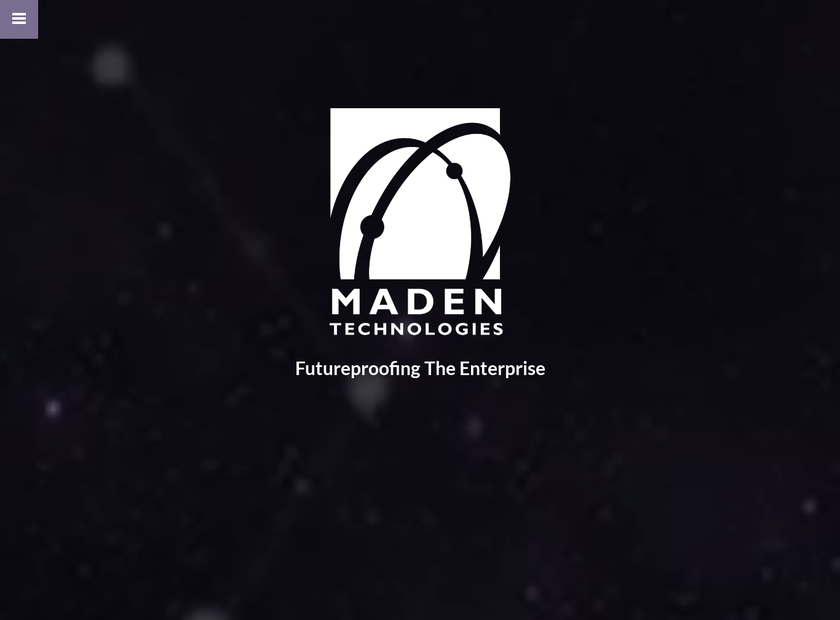Maden Technologies homepage screenshot