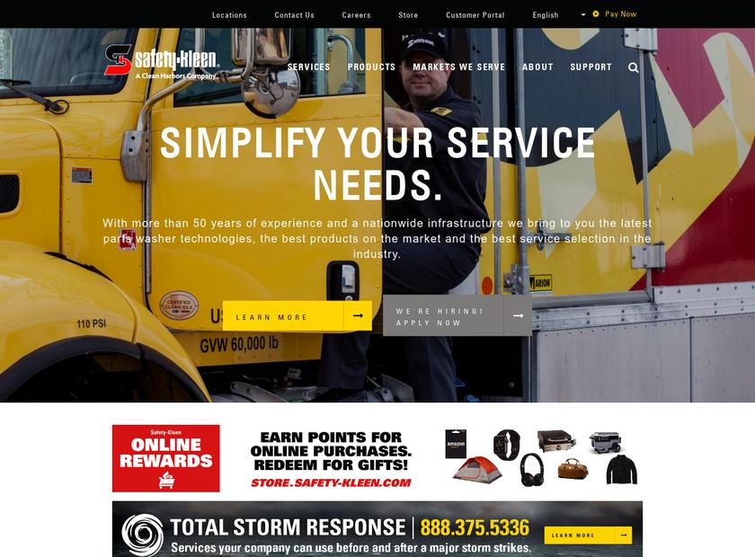 Safety-Kleen Corp. homepage screenshot