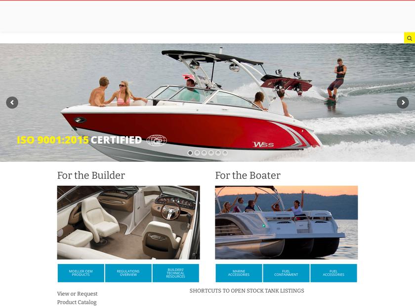 Moeller Marine Inc homepage screenshot