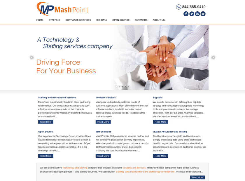 MashPoint LLC homepage screenshot