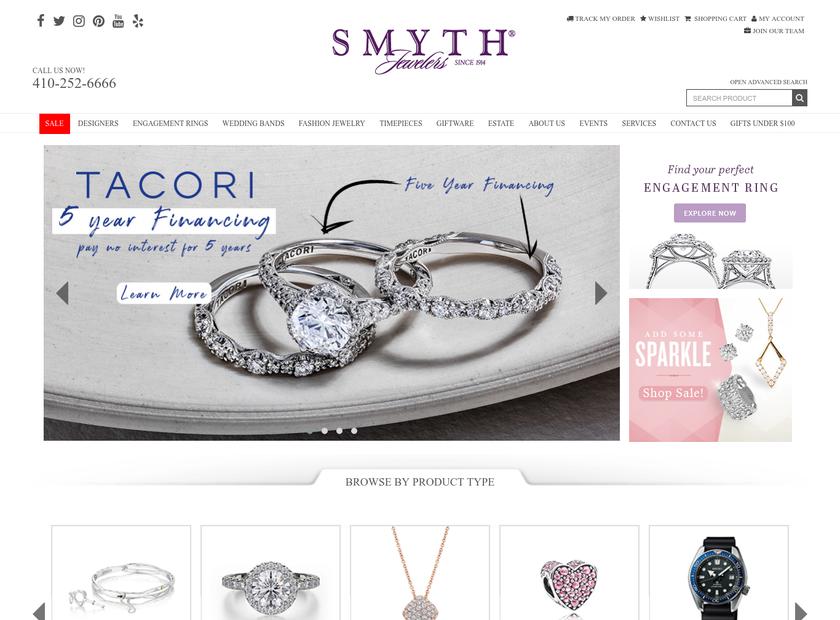Smyth Jewelers homepage screenshot