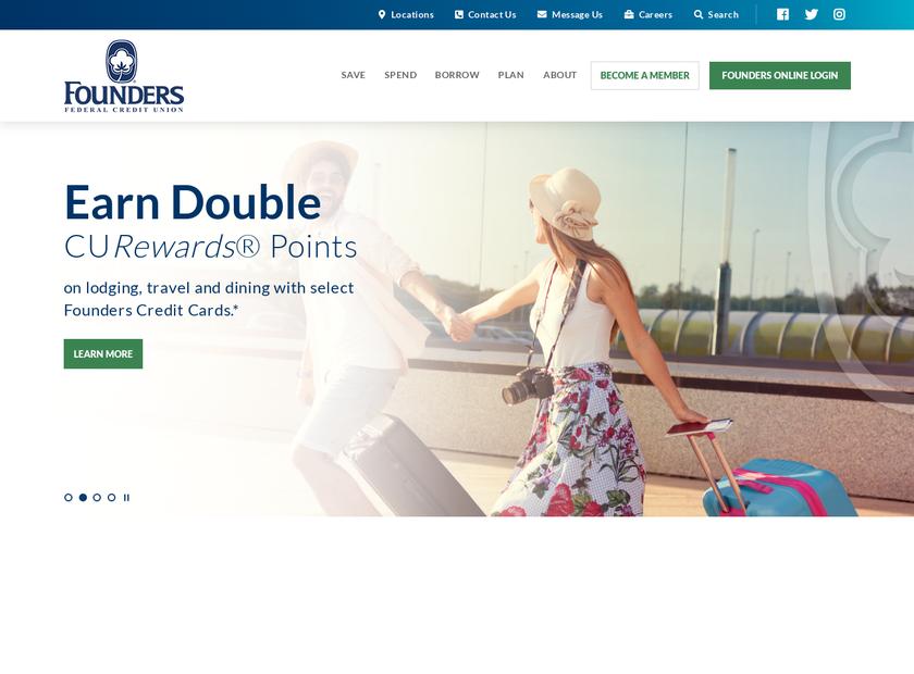 Founders Federal Credit Union homepage screenshot