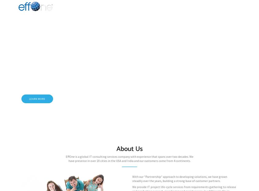 EffOne homepage screenshot