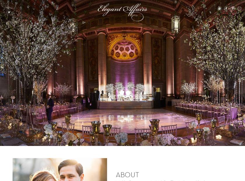 Elegant Affairs homepage screenshot