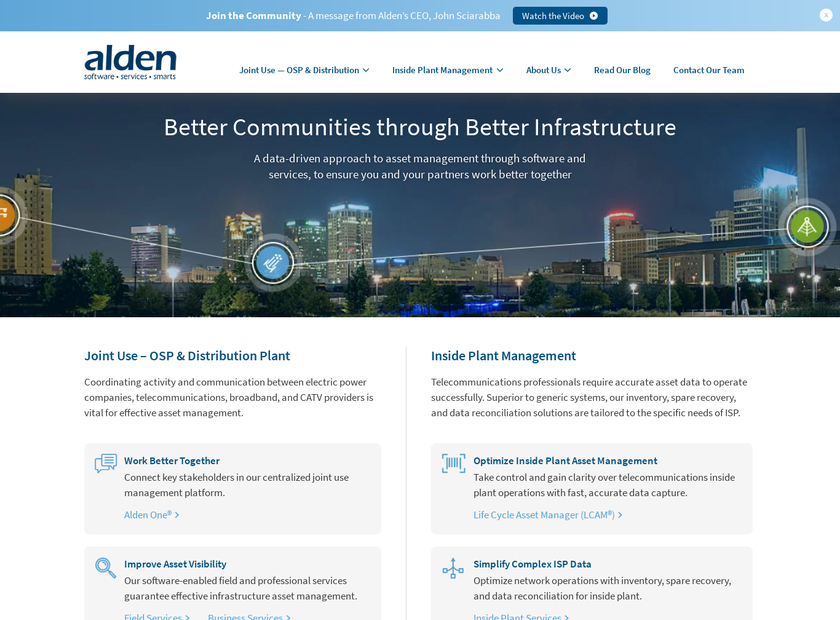 Alden Systems Inc homepage screenshot