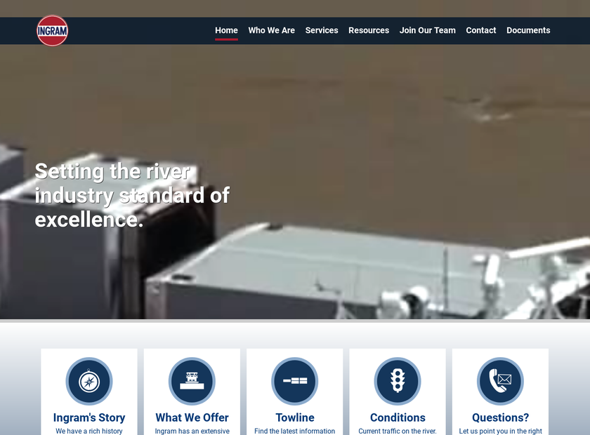 Ingram Barge Company homepage screenshot