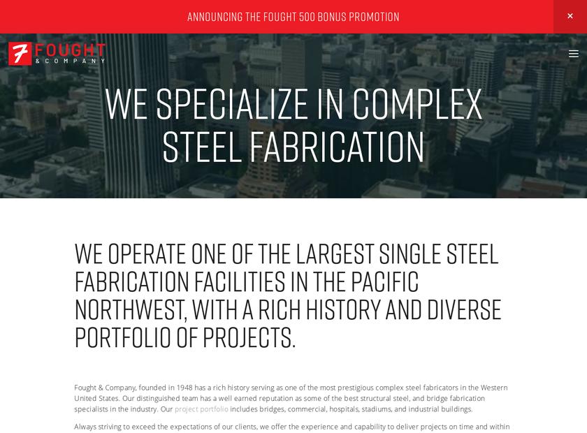 Fought & Company Inc homepage screenshot