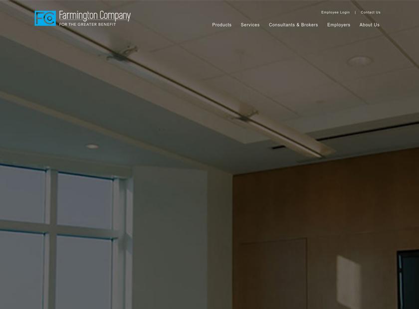 The Farmington Company homepage screenshot