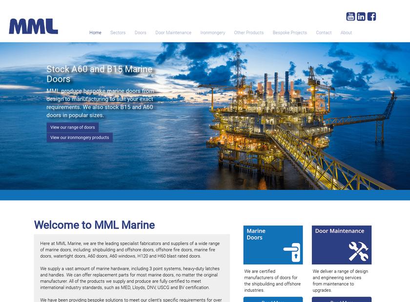 McGeoch Marine Ltd homepage screenshot