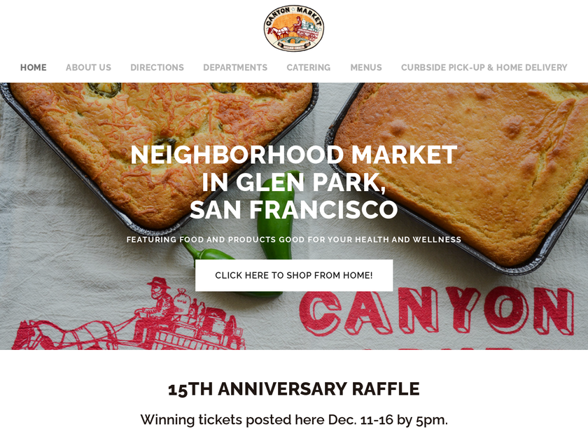 Canyon Market homepage screenshot