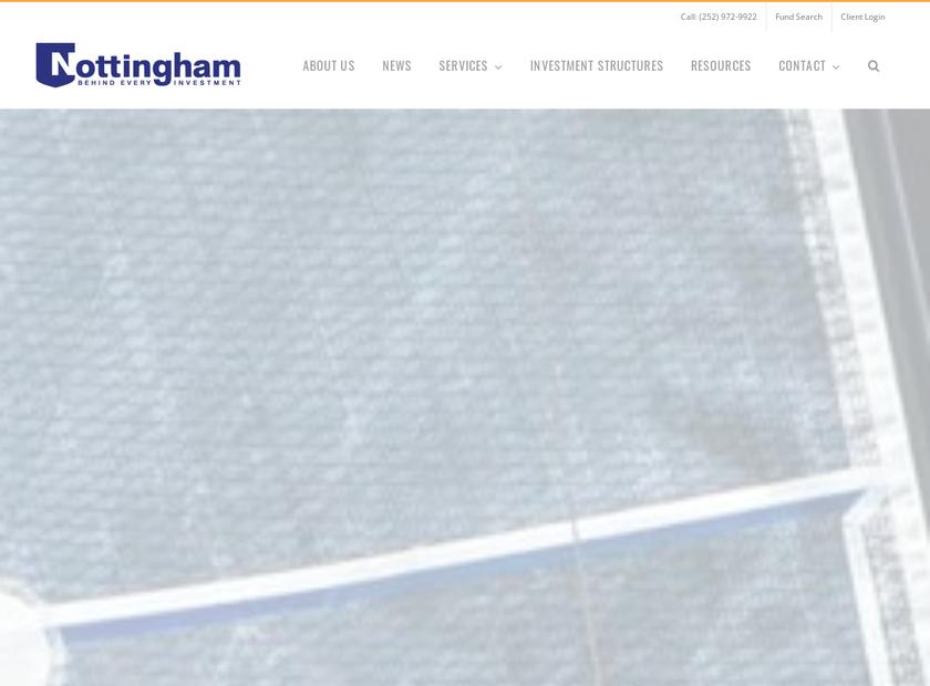 The Nottingham Company homepage screenshot