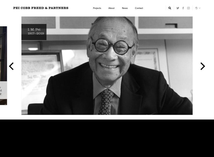 Pei Cobb Freed & Partners homepage screenshot
