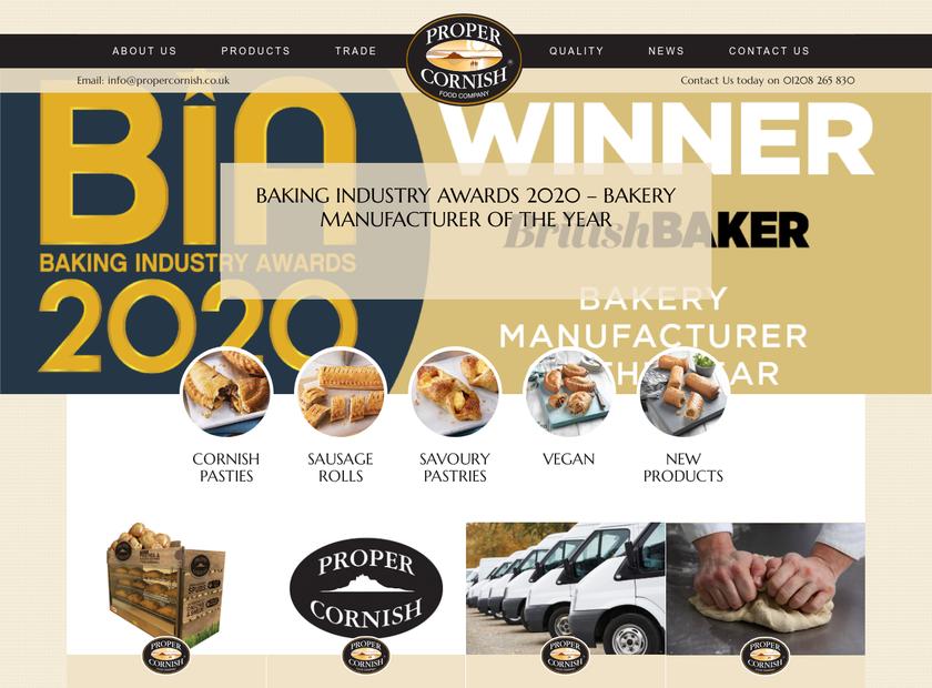 Proper Cornish Ltd homepage screenshot